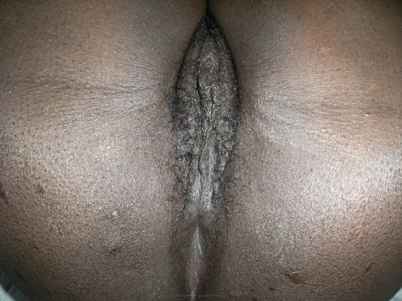 Голубоглазая негритянка делает минет супругу и оголяет вагину